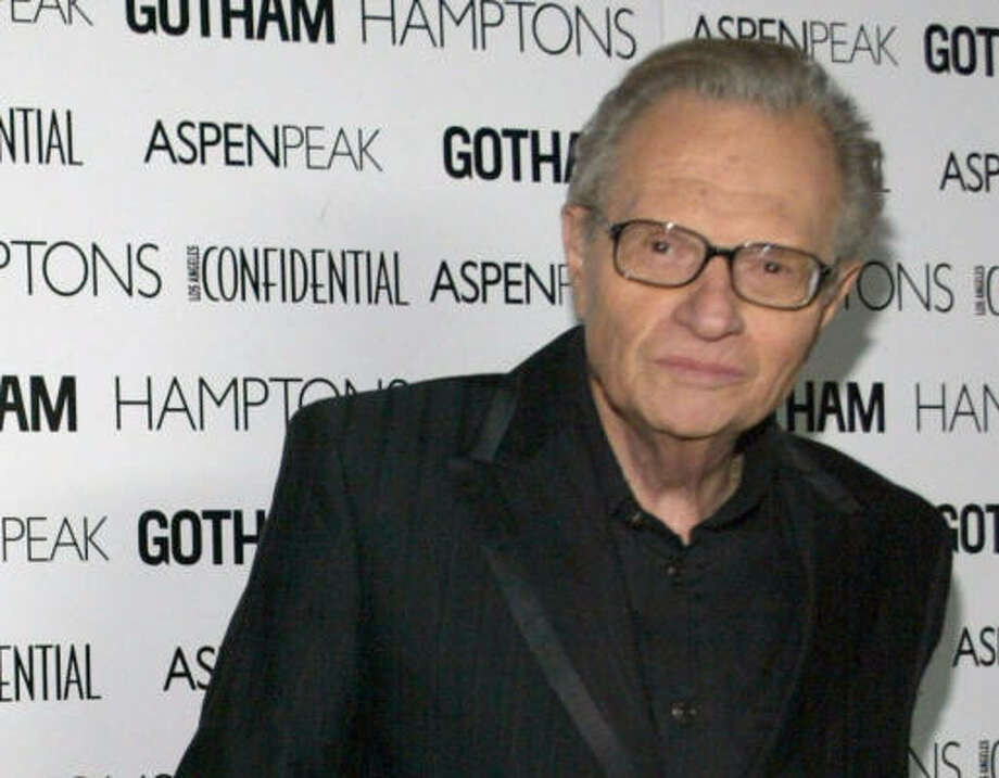 CNN's Larry King says he'll stay in the talk-show chair for as long as the news network will have him. Photo: Michael Buckner, Getty Images