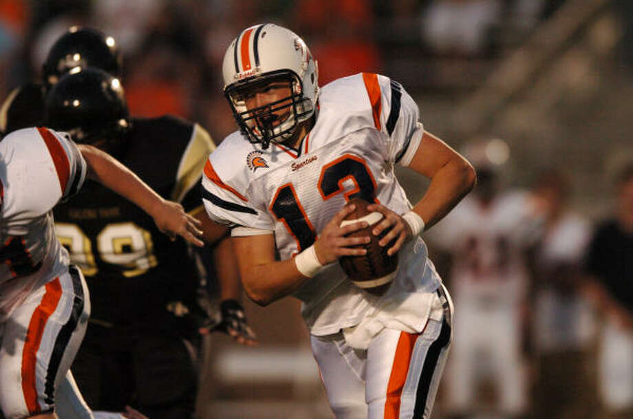 Seven Lakes junior quarterback Dalton Livingston  has thrown for 780 yards and five touchdowns entering the Spartans' District 24-4A season, which kicks off at 7:30 p.m. Thursday against Foster at Traylor Stadium. Photo: Ronnie Montgomery, For The Chronicle