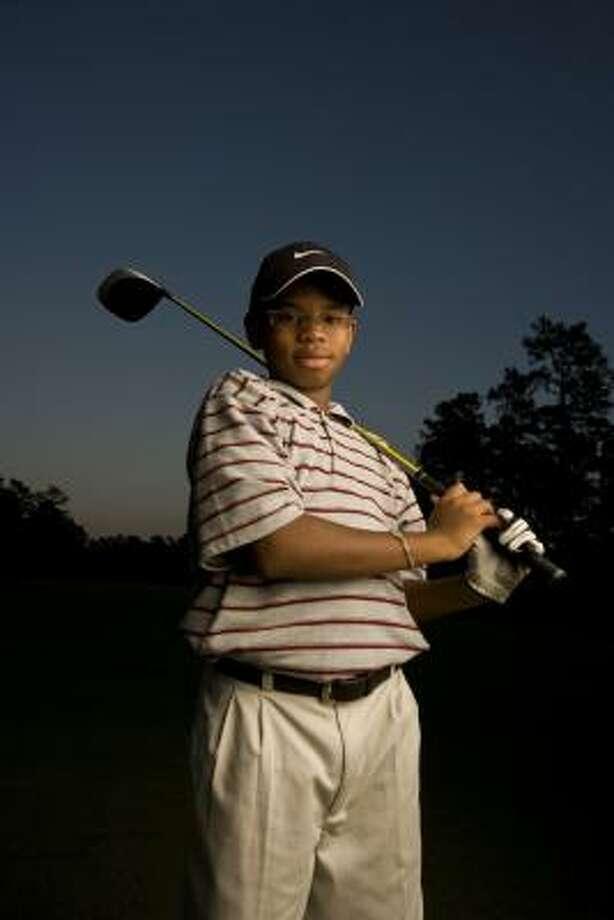 Golf helps Larry Balthazar, a seventh-grader at Wunderlich Intermediate, stay healthy. Photo: Robert Seale