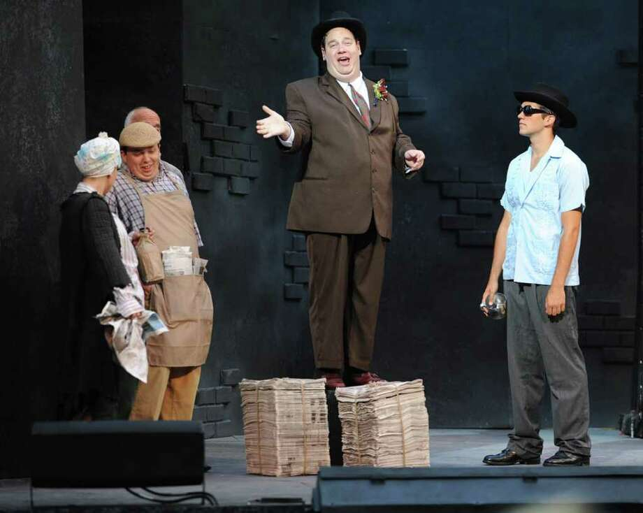 """The play """"The Producers"""" is performed at the Park Playhouse in Washington Park in Albany, N.Y. Wednesday, July 20, 2011. (Lori Van Buren / Times Union) Photo: Lori Van Buren"""