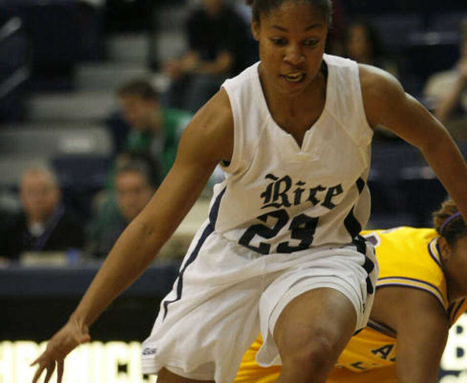 Krystal Frazier is one of the Rice seniors who will finish her career having played in four postseason tournaments. Photo: CHRONICLE FILE