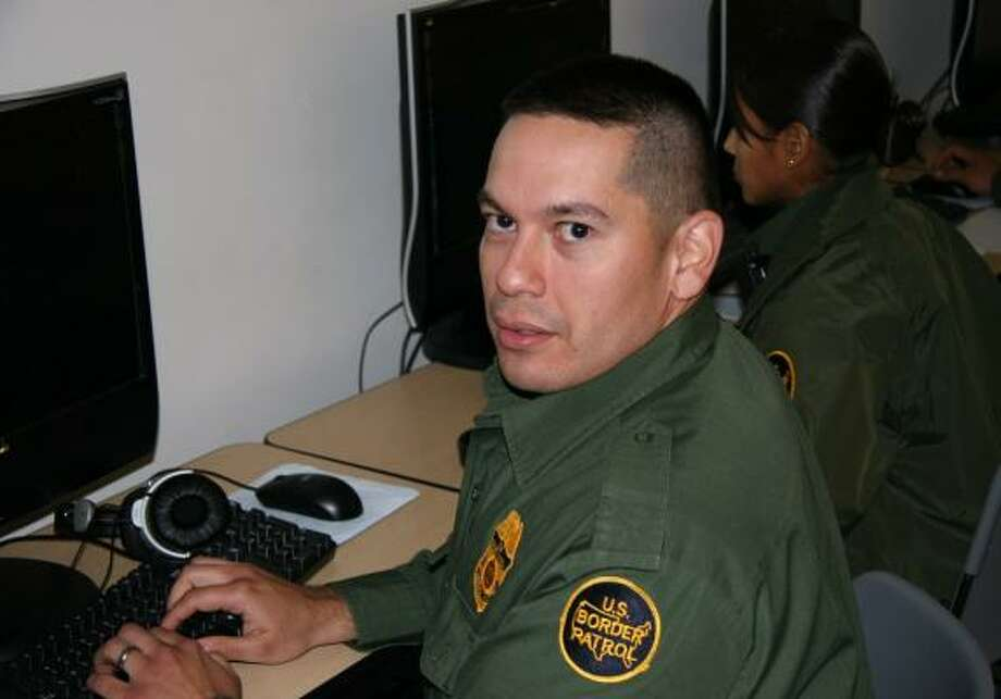 Border Patrol agent Edward Caballero, 32, says his Spanish fluency and upbringing in the Rio Grande Valley give him an edge in his job. Photo: For The Chronicle