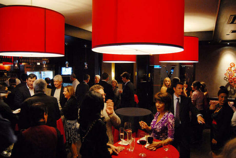 The bar at the grand opening of the PS Valentino Vin Bar at the Hotel Derek. Photo: Dave Rossman