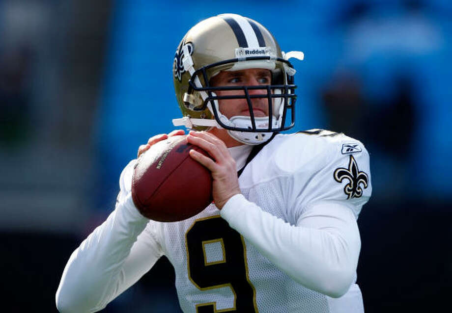 Based on playoff history, Drew Brees and the Saints have an 89.5 percent chance of defeating Arizona. Photo: Scott Halleran, Getty Images