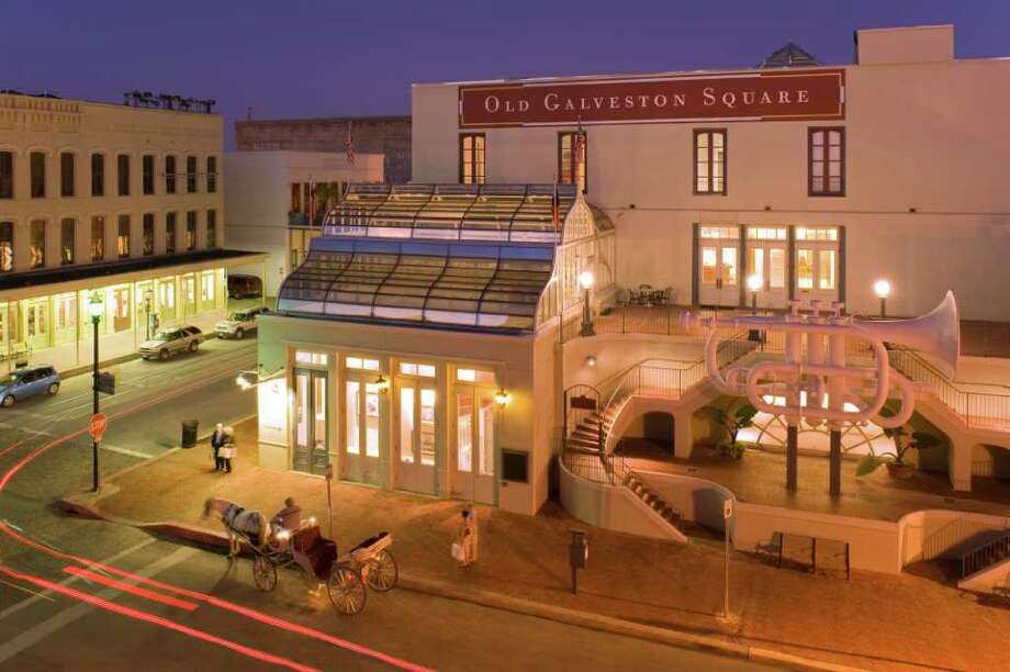 Old Galveston Square located in the Historic Downtown Strand District photographed at dusk. credit: Mitchell Historic Properties Photo: ROBERT MIHOVIL, Photographer / Mihovil Photography