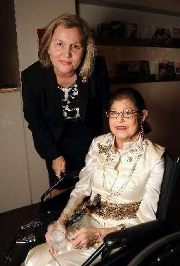 Helga Kessler Aurisch and Linda K. Finger Photo: Dave Rossman, For The Chronicle