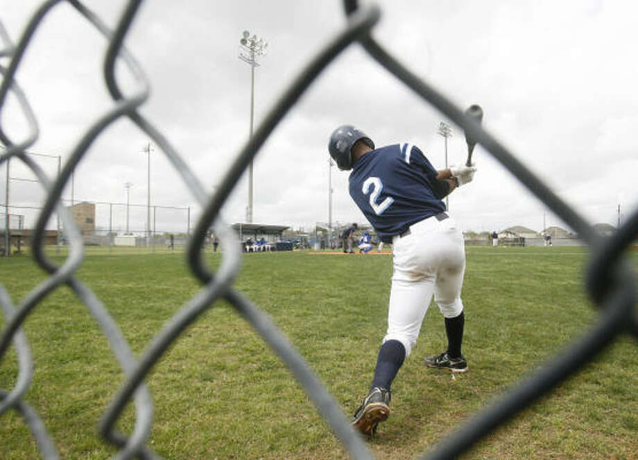 Justin Bass, son of ex-Astro Kevin Bass, has three grand slams for Clements this season. Photo: Mayra Beltran, Chronicle