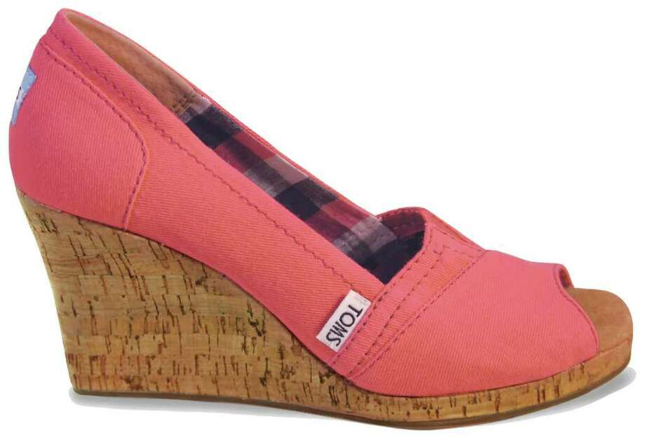 Toms wedges, $69, at toms.com Photo: Toms