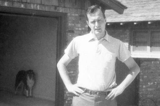 George H.W. Bush in front of his family home in Midland in the early 1950s. Photo: BUSH PRESIDENTIAL LIBRARY