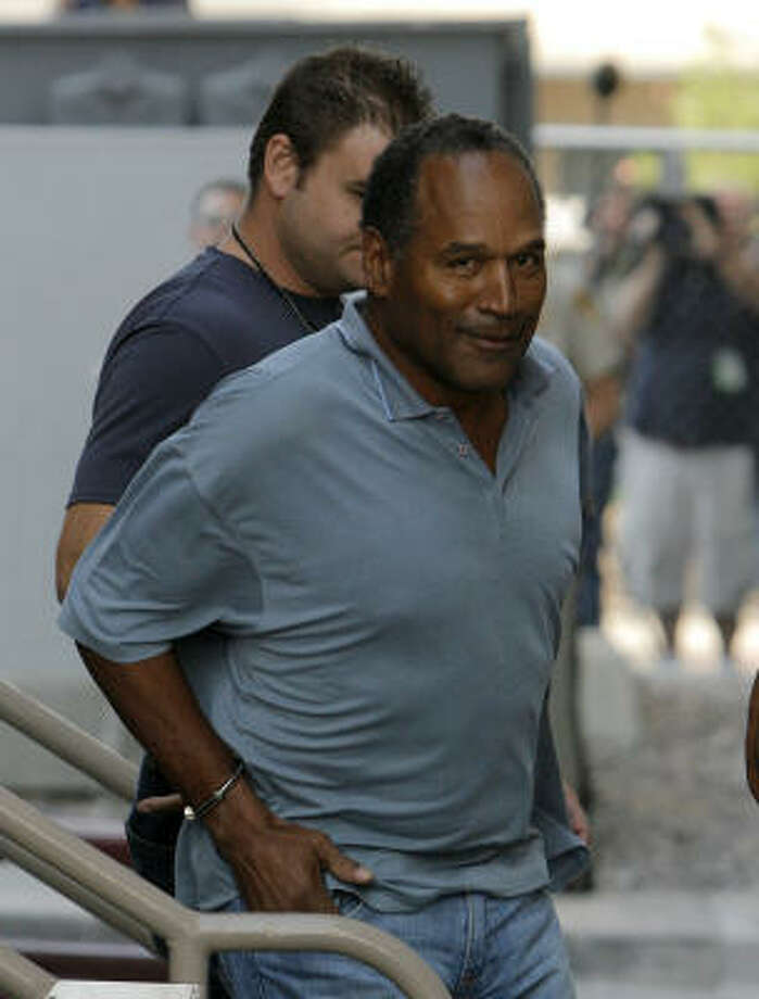 Authorities transfer O.J. Simpson to the Clark County Detention Center in Las Vegas on Sunday. Photo: Jae C. Hong, Associated Press