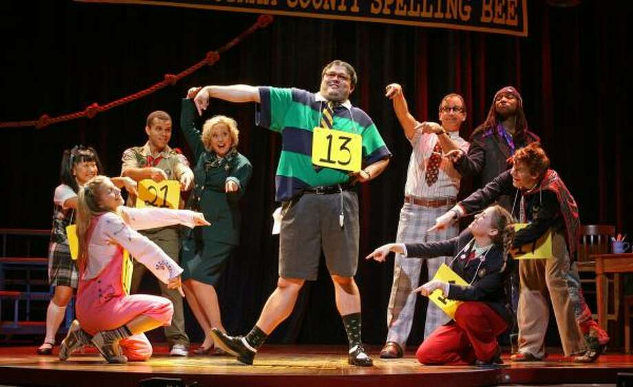 Young people struggle to get it right (and burst into song) in this scene from Bee. Photo: JOAN MARCUS