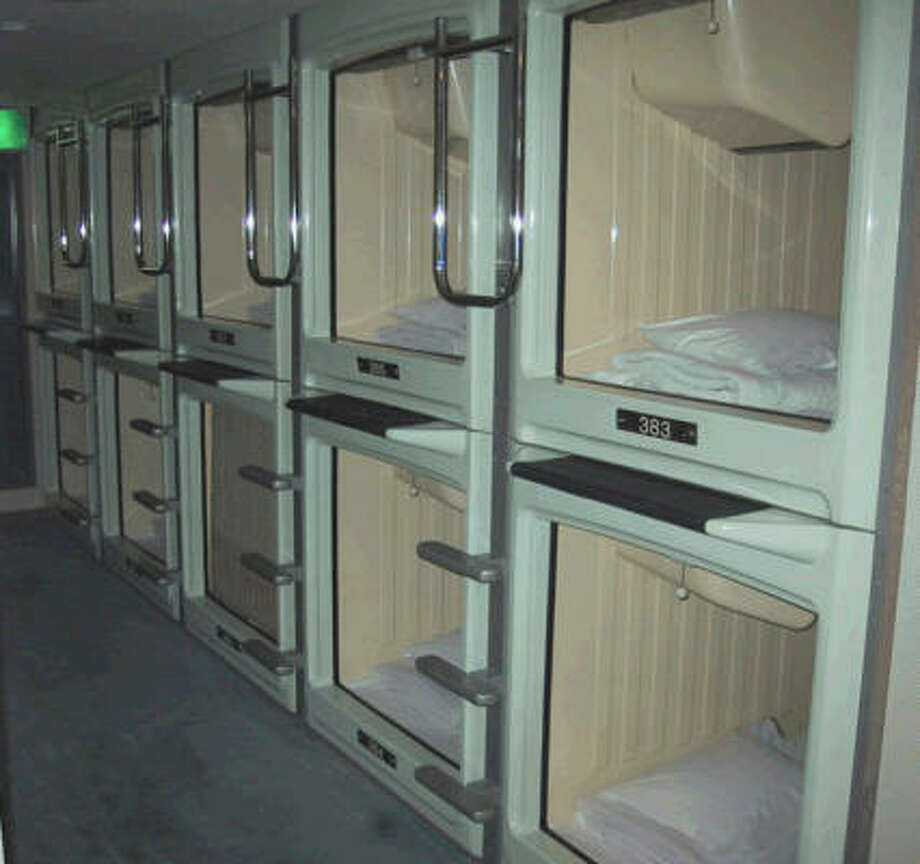 The new trend of tiny rooms are not quite as small as the capsule hotels of Japan (pictured). Photo: King Features