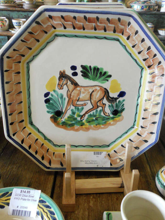 Melissa Guerra Tienda de Concina carries this Gorky Gonzalez horse salad plate, $36.95. JENNIFER RODRIGUEZ / SPECIAL TO THE EXPRESS-NEWS