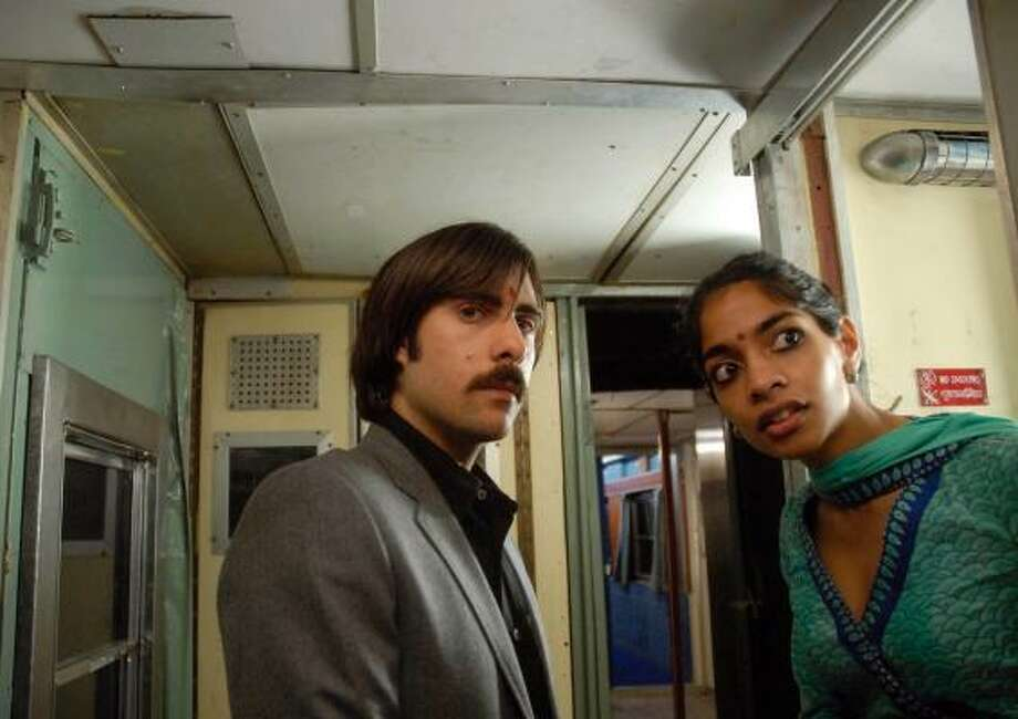 Jason Schwartzman, in a scene with Amara Karen, acted in and co-wrote The Darjeeling Limited. Photo: James Hamilton