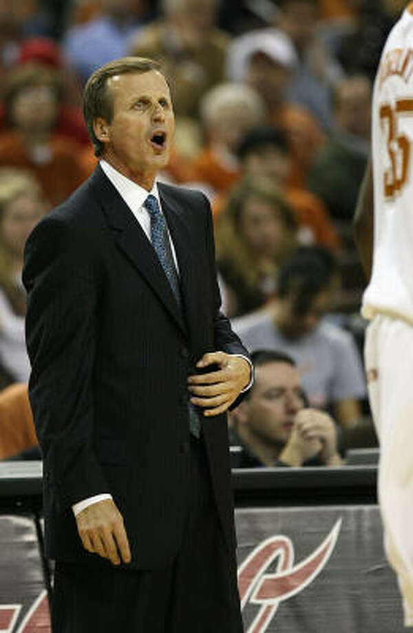 Rick Barnes won his first game against Arkansas as Texas' coach. The schools hadn't played each other since 1991. Photo: Deborah Cannon, AP