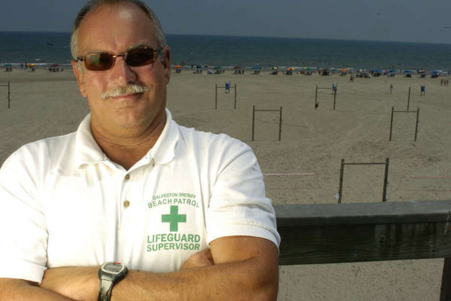 Vic Maceo at Beach Patrol headquarters in Stewart Beach in Galveston in this 2005 file photo. Maceo will retire next week. Photo: Carlos Javier Sanchez, For The Chronicle