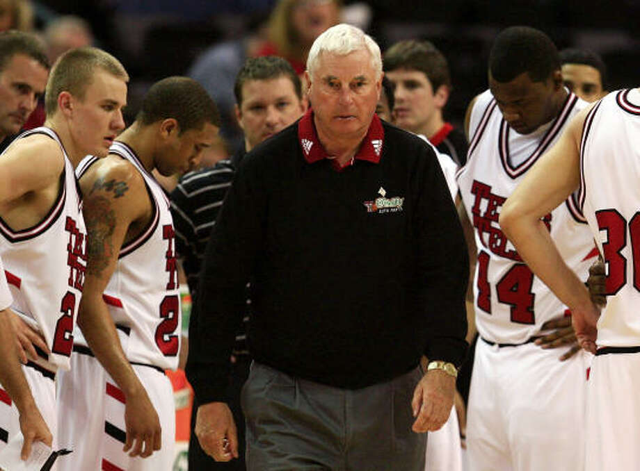 Bob Knight and the Red Raiders will face Kansas St. in the Big 12 quarterfinals Photo: Jamie Squire, Getty Images