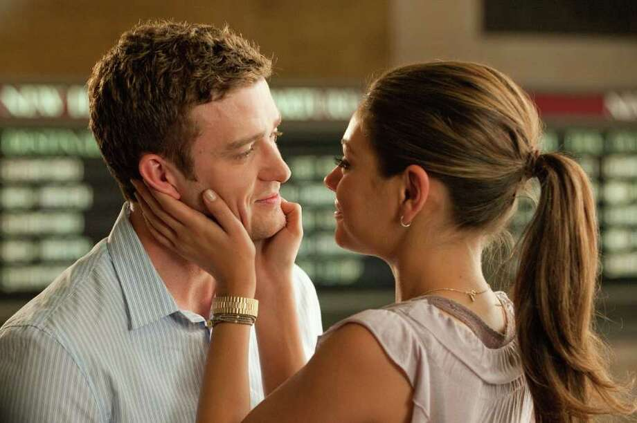 """Justin Timberlake as """"Dylan"""" and Mila Kunis as """"Jamie"""" in Screen Gems' FRIENDS WITH BENEFITS. Photo: David Giesbrecht, FRIENDS WITH BENEFITS / ©2011 CTMG, Inc.  All Rights Reserved.  **ALL IMAGES ARE PROPERTY OF SONY PICTURES ENTERTAINMENT INC. FOR PROMOTIONAL USE ONLY."""