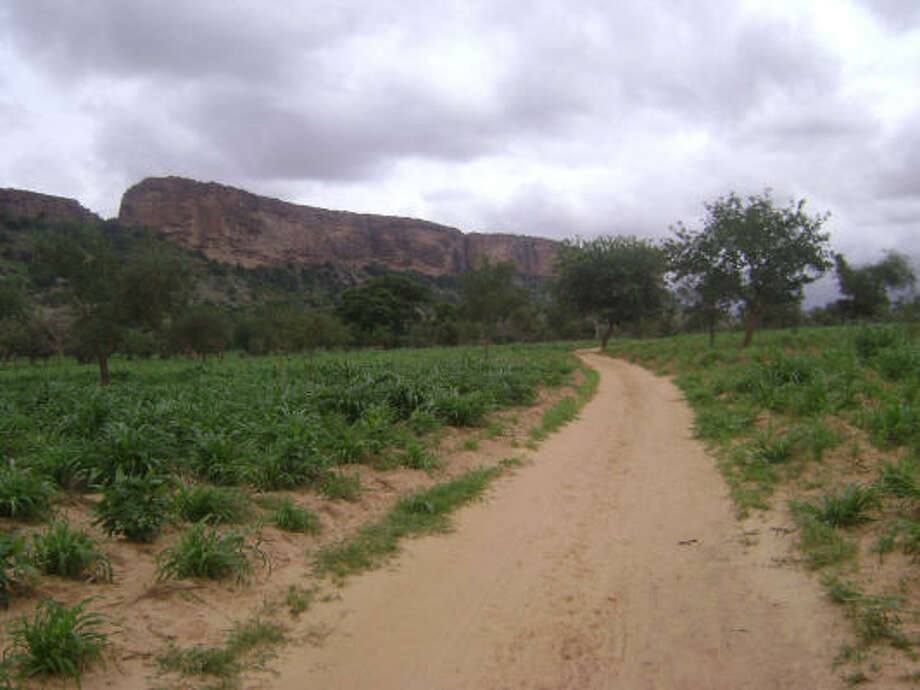 This escarpment runs through Dogon Country in central Mali. Photo: ALEXIS GRANT:, FOR THE CHRONICLE