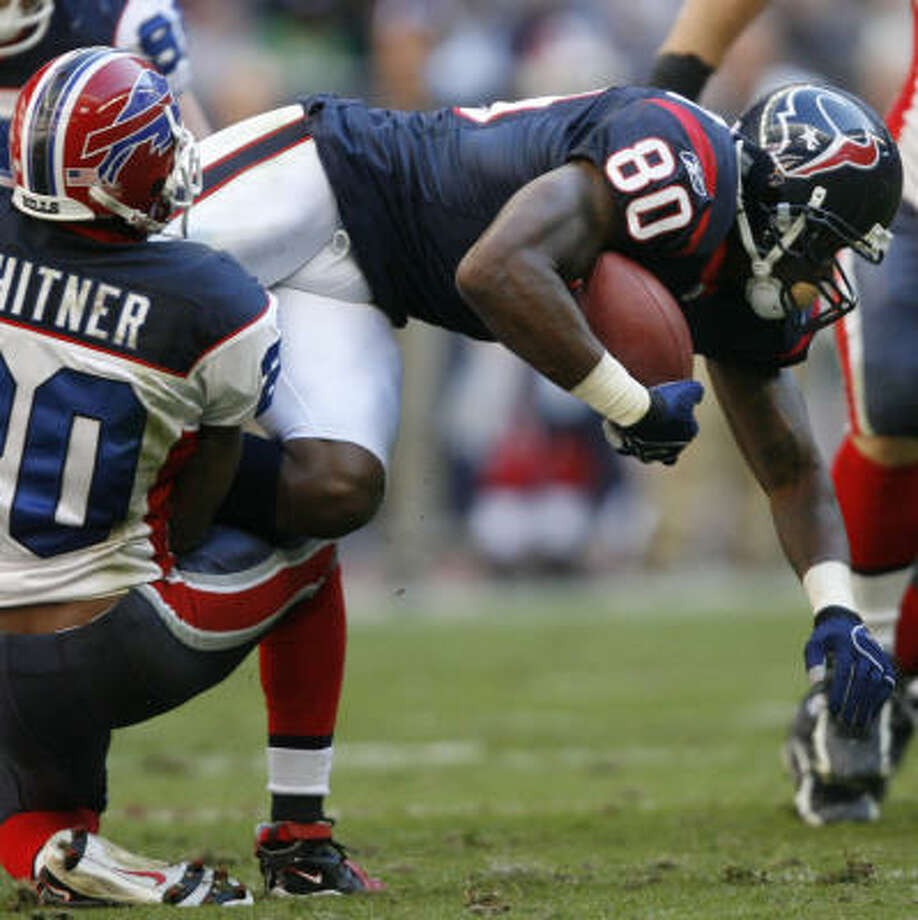 Texans receiver Andre Johnson will be an area of concern for the Titans' game planners. Photo: Kevin Fujii, Chronicle