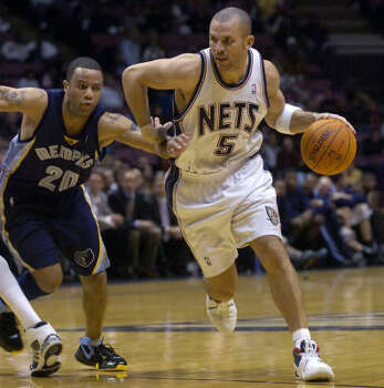 The New Jersey Nets' Jason Kidd has had few true peers at guard in the NBA throughout the years. Photo: BILL KOSTROUN, AP