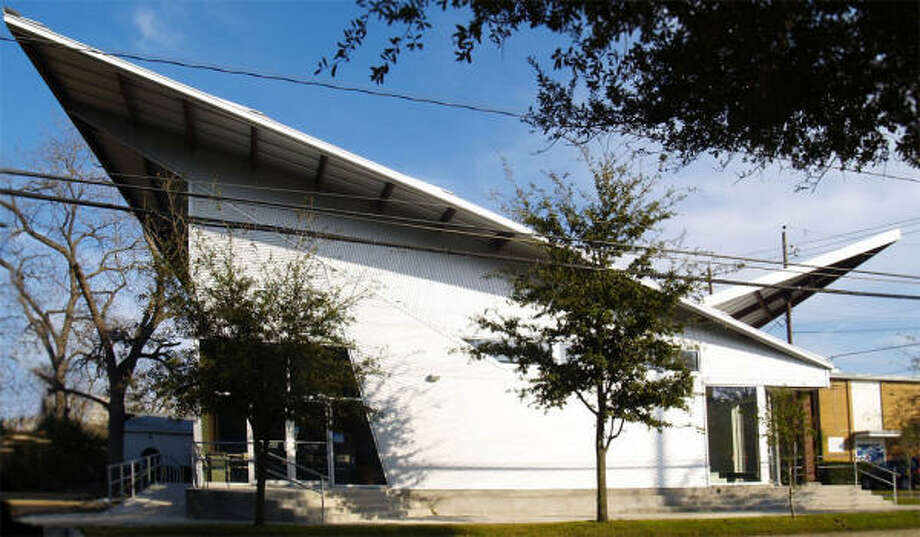 Art League Houston's new $580,000 facility houses 6,000 square feet of classroom space and a lounge named Inversion Coffee. Photo: Art League Houston
