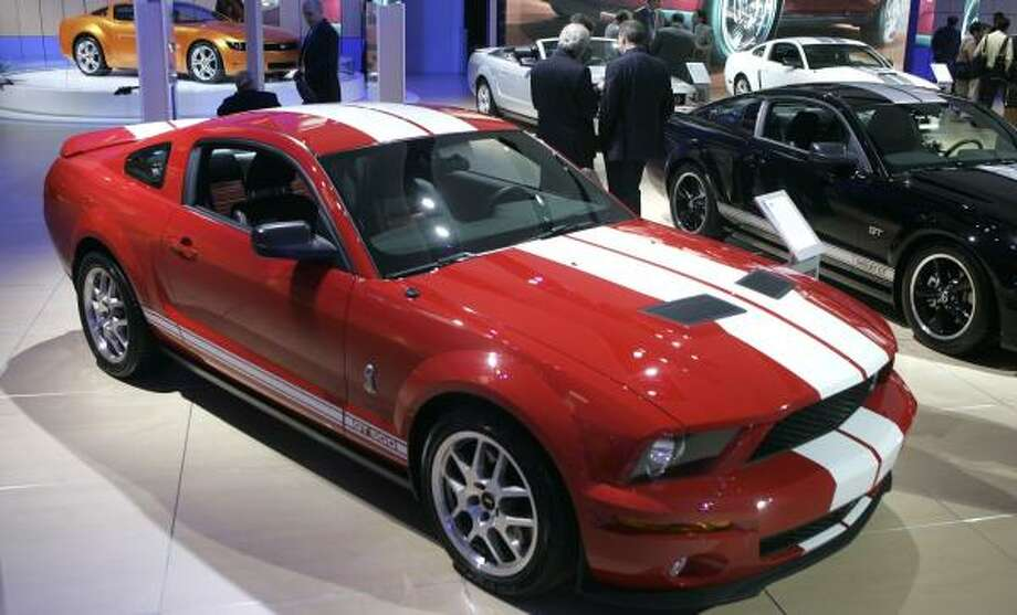 The Ford Mustang GT500, seen at the North American International Auto show in Detroit in January, is now a source of concern for the automaker, with a 19 percent drop in sales for January and February. Photo: CARLOS OSORIO, ASSOCIATED PRESS FILE
