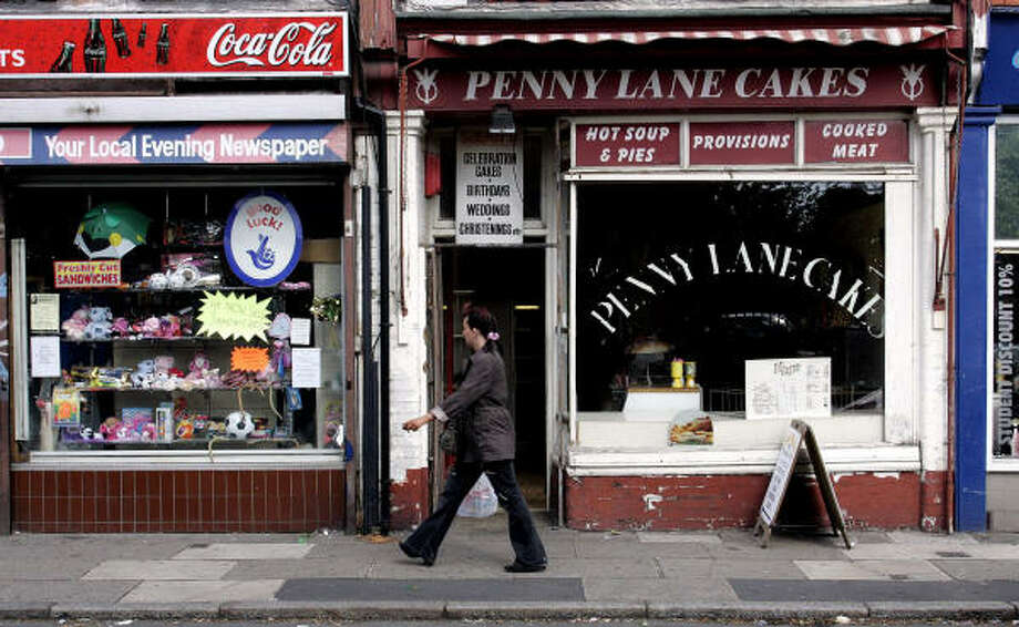 Penny Lane in Liverpool, England, has gained worldwide attention, thanks to the Beatles. However, the street has a connection to slavery. It's named after James Penny, a slave trader and investor in 11 voyages that brought slaves to the New World. Photo: DAVE THOMPSON, AP File