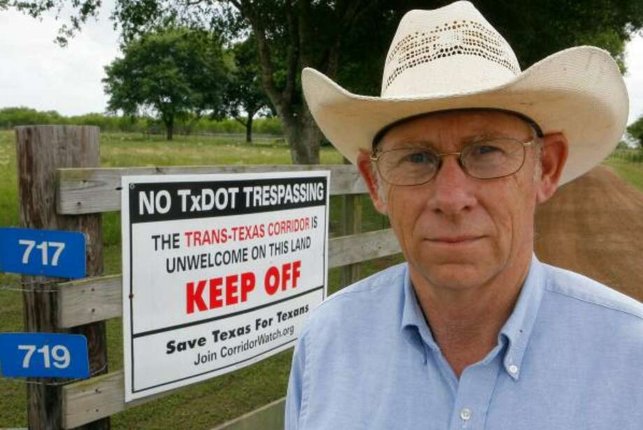 Lloyd Koeppen owns property in Mixville, a community near Sealy. Even if the toll road misses his property, he worries it could worsen runoff to his flood-prone land. Photo: STEVE CAMPBELL, CHRONICLE
