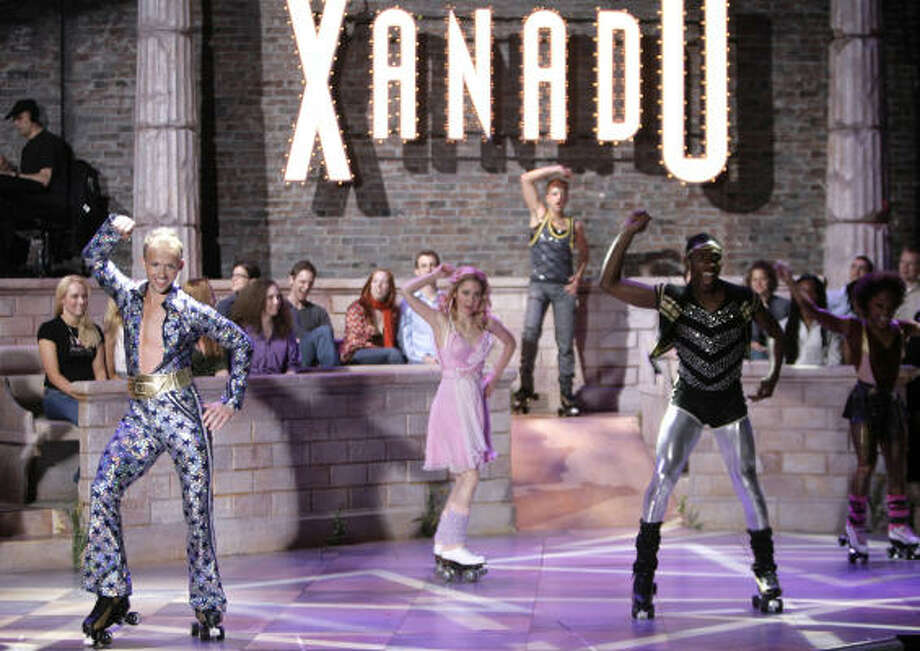 Xanadu, based on the 1980 Olivia Newton-John film, is nominated for best musical. Photo: Seth Wenig, Associated Press