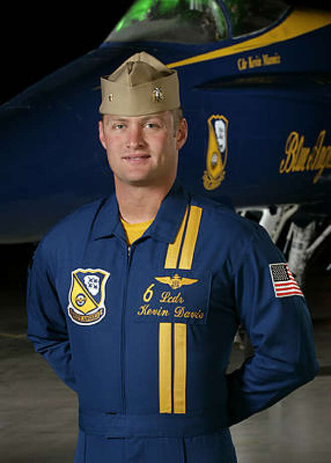 U.S. Navy Blue Angels team member Lt. Cmdr Kevin Davis of Pittsfield, Mass., was killed when his F/A-18 Hornet crashed during a performance Saturday in Beaufort, S.C. Photo: AFP/Getty