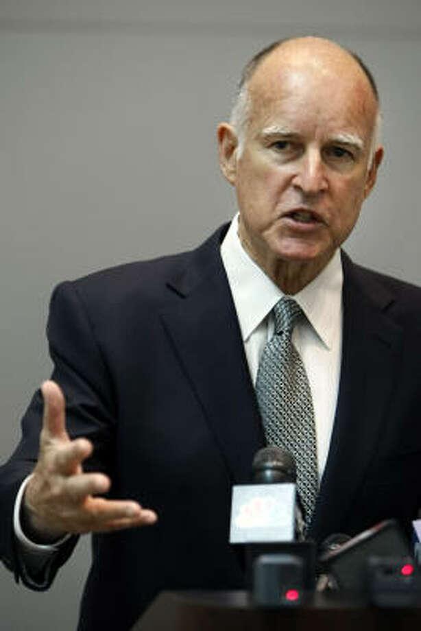 California Attorney General Jerry Brown Photo: JAKUB MOSUR, Associated Press