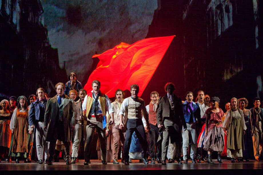Lives and destinies collide in One Day More, the sweeping Act 1 finale of the epic musical version of Victor Hugo's classic novel, Les Miserables. Photo: Bruce Bennett
