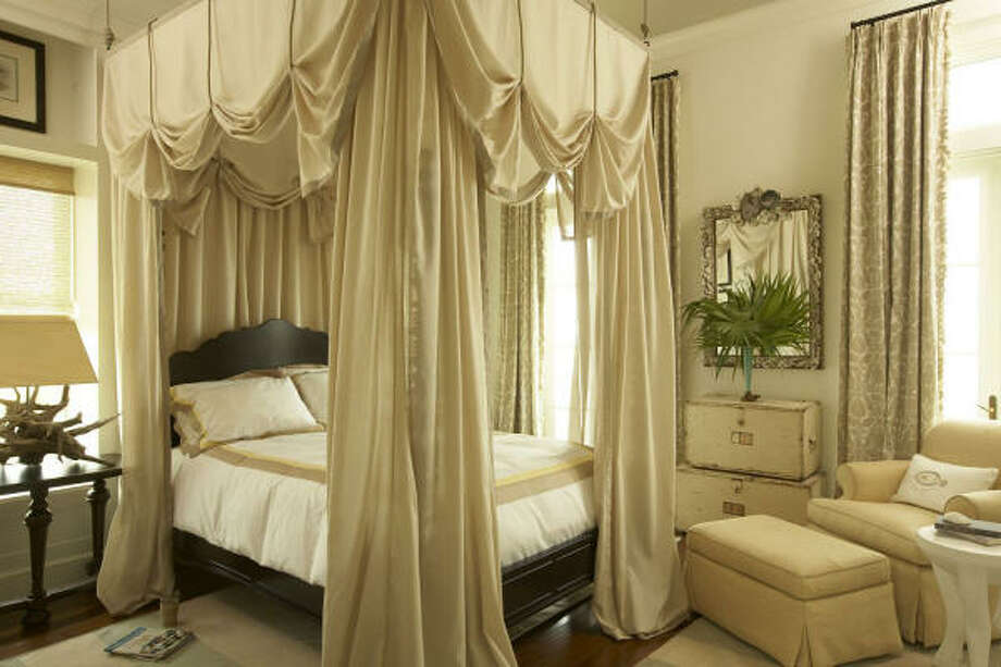 A bedroom shows off the neutral color scheme of the Idea House. Photo: Jean Allsopp, Coatal Living