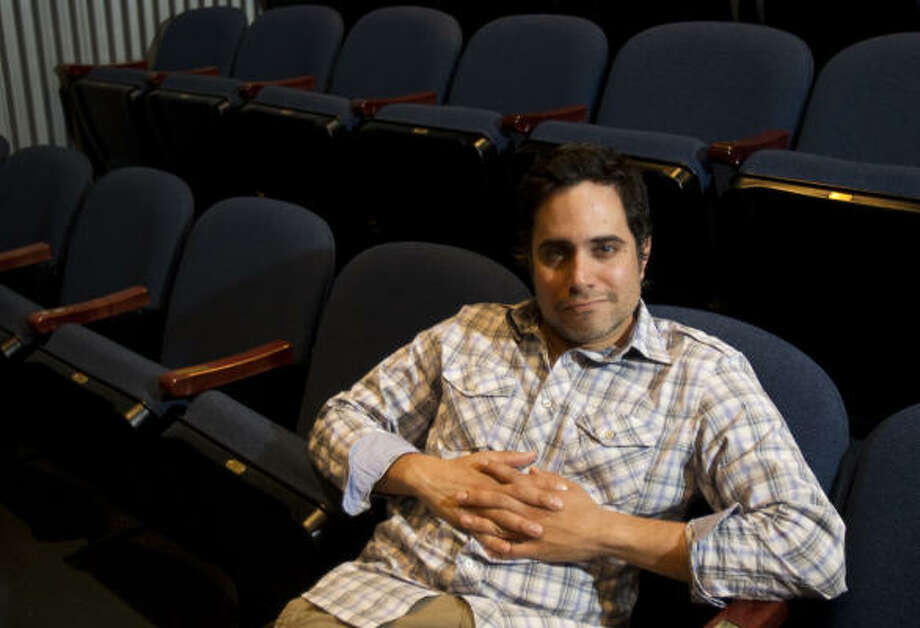 Brett Coomer : Chronicle A lifelong fascination with monsters, an unanswered question from Homer's The Odyssey and a dream about Godzilla were among the factors that inspired Rajiv Joseph's play, The Monster at the Door, which has its world premiere Wednesday at the Alley Theatre. Photo: Brett Coomer :, Chronicle