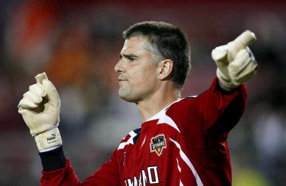 Goalkeeper Pat Onstad is one of four Dynamo players who have been called up to their national teams. Photo: Aaron M. Sprecher, Getty Images