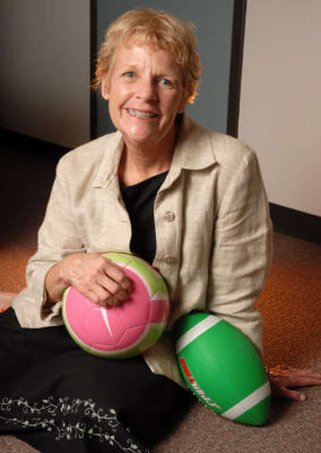 Sharon Sterchy, program director of wellness for the Aldine school district, has been called a charismatic, fiery ball of innovation, a ``den mother'' to teachers, a mentor and a blessing. She has been nominated for the 2007 Texas Association of Health, Physical Education, Recreation and Dance K-12 Administrator of the Year. Photo: Dave Rossman, For The Chronicle
