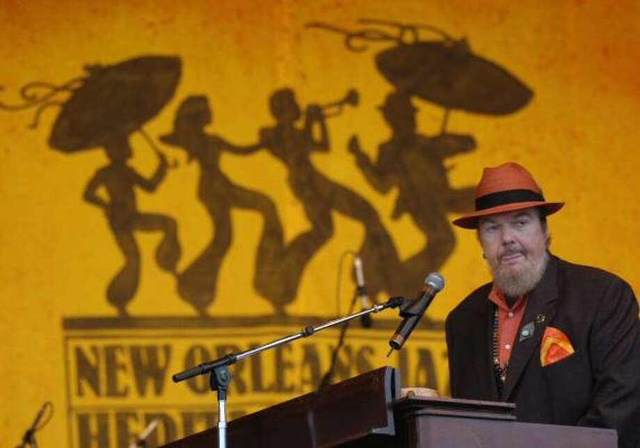 Dr. John will be among the entertainers performing on the opening day of the New Orleans Jazz & Heritage Festival, scheduled April 27-29 and May 4-6. Photo: BURT STEEL, ASSOCIATED PRESS