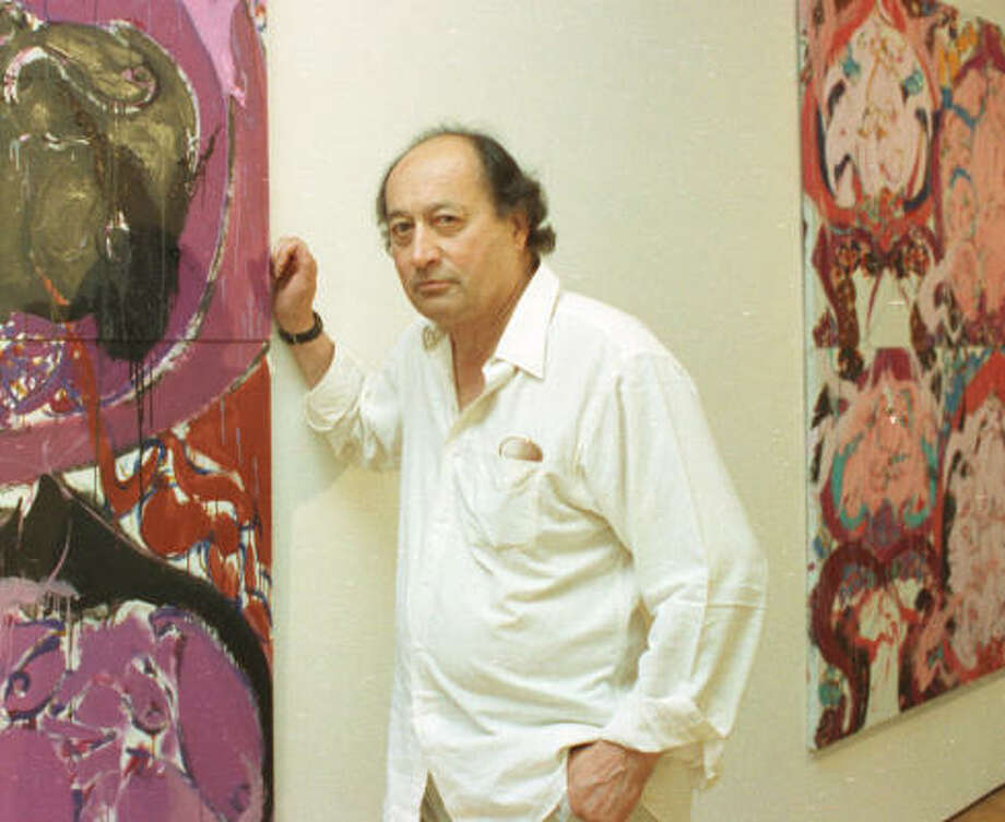 Painter Norman Bluhm at Houston's Butler Gallery in 1991. Photo: Chronicle File