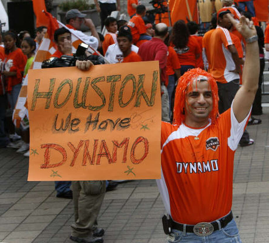 Now that Houston fans have someone to cheer for, the work turns to finding a new place for the team to play. Photo: Carlos Antonio Rios, Houston Chronicle