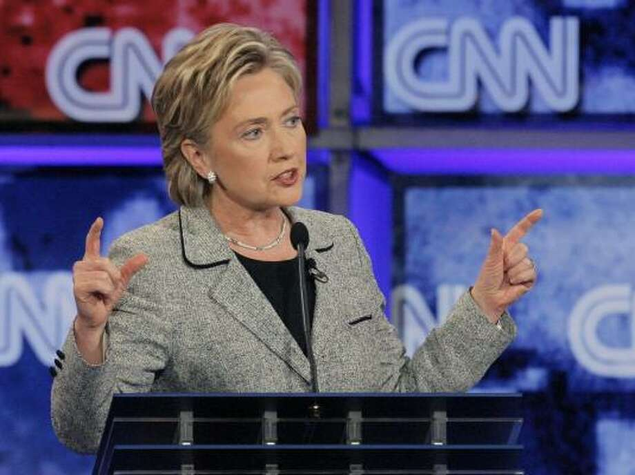 Sen. Hillary Clinton, D-N.Y., was seen by many as the winner of the debate Thursday at the University of Nevada at Las Vegas. Photo: JAE C. HONG, ASSOCIATED PRESS