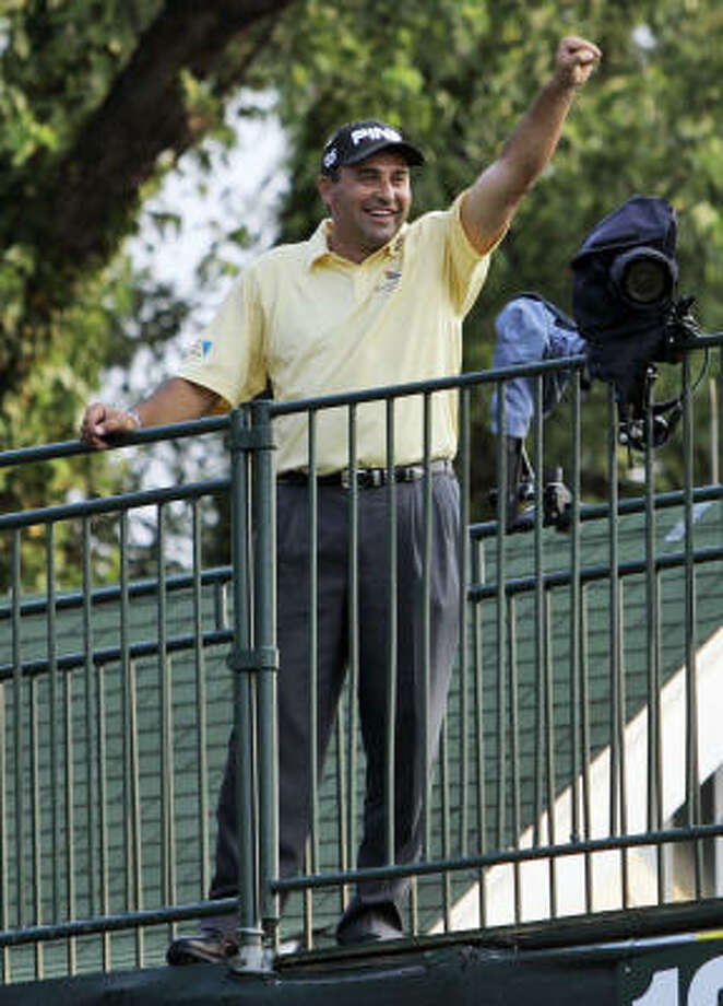 Angel Cabrera provided the U.S. Golf Association with more drama than countryman Manu Ginobili brought to the NBA Finals. Photo: Elise Amendola, AP