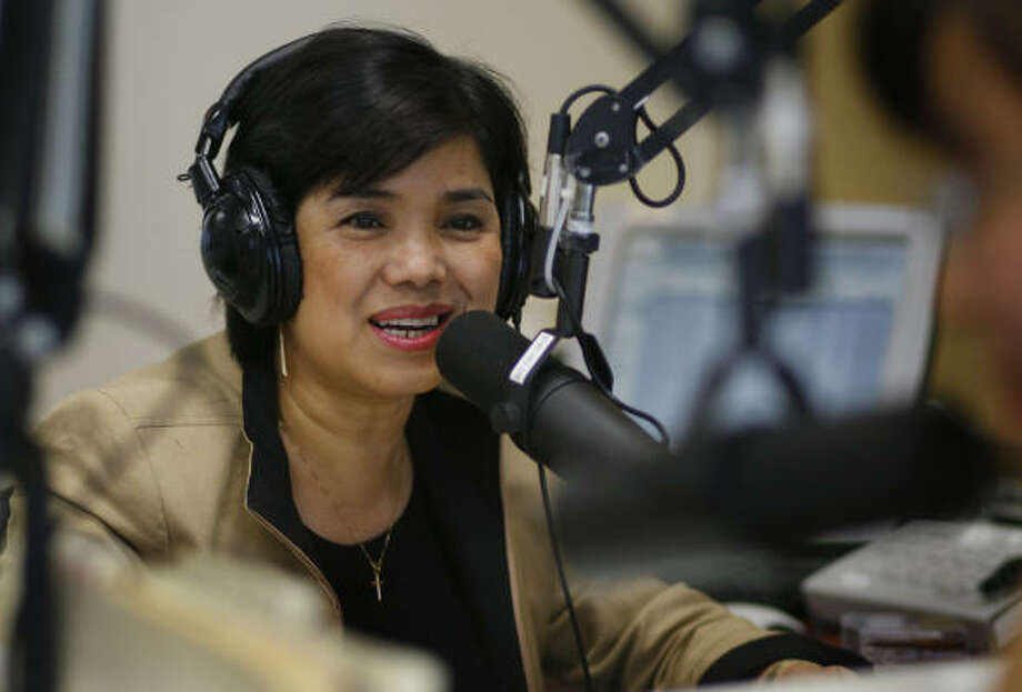 Vu Thanh Thuy broadcasts at Radio Saigon Houston. The station has grown in popularity and size over the past 8 years and tries to reach out to the next generation of Vietnamese-Americans. Photo: Steve Ueckert, Chronicle