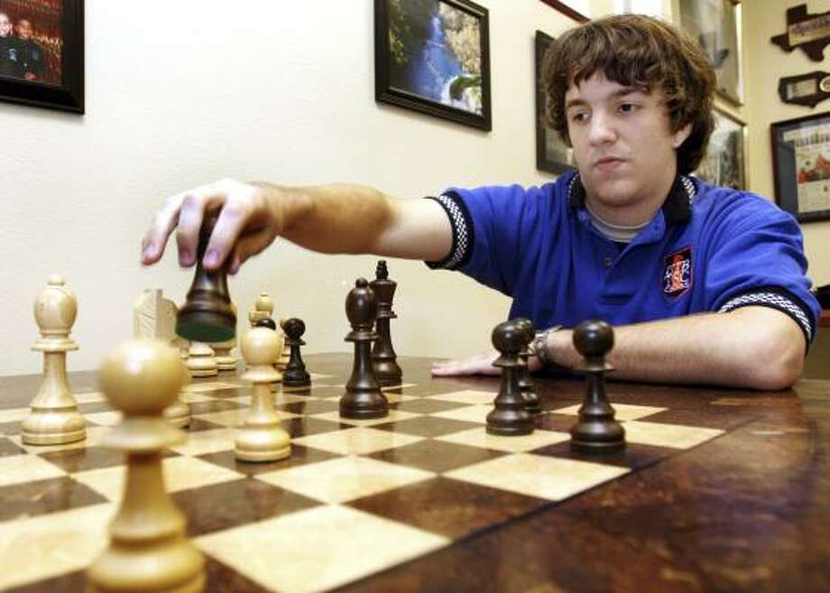 At the University of Texas-Brownsville, Axel Bachmann has trained with a grandmaster and other chess heavyweights. Photo: CHRISTOPHER TREJO, UNIVERSITY OF TEXAS-BROWNSVILLE/AP
