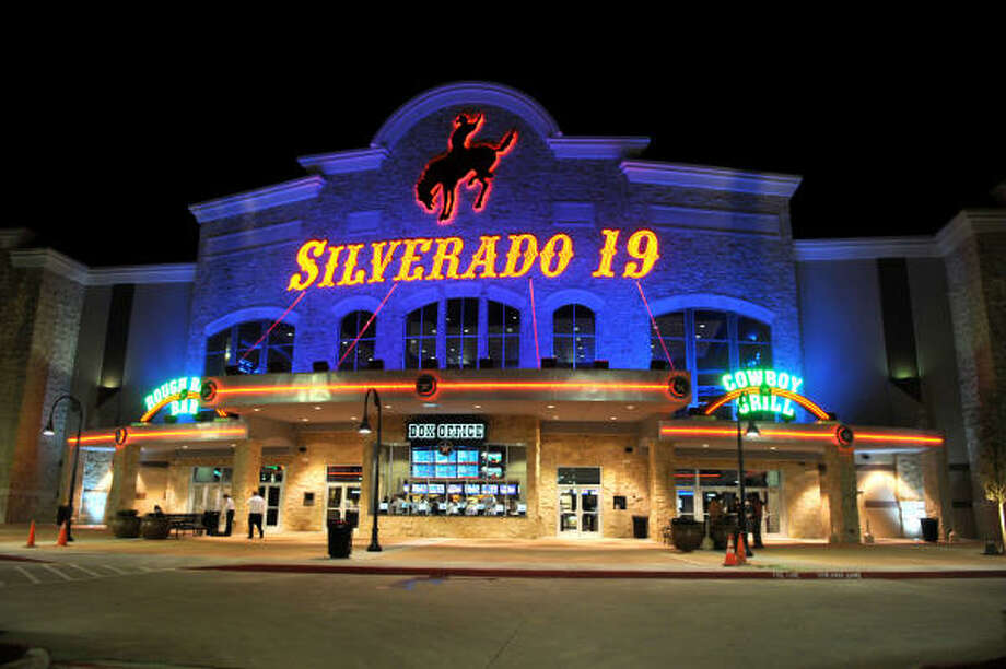 The new Silverado 19 theater complex on Highway 249 near Tomball features a full-service restaurant, a state-of-the-art gaming gallery, a Gelato Cafe' and two mezzanine bars. Photo: Jerry Baker, For The Chronicle