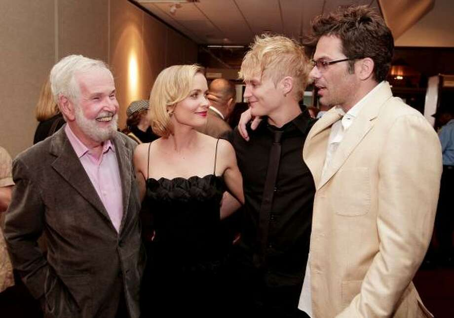 Director Robert Benton, from left, and actors Radha Mitchell, Toby Hemingway and Billy Burke at the premiere of Feast of Love. Photo: KEVIN WINTER, GETTY IMAGES