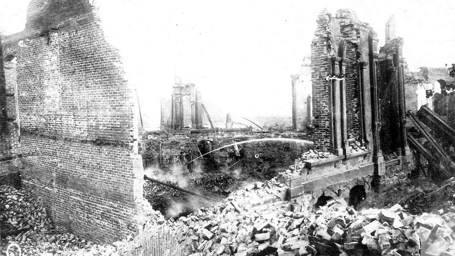 An image taken after the Great Seattle Fire, which started the afternoon of June 6, 1889. Washington was admitted to the union on Nov. 11, 1889. Photo: Seattlepi.com File