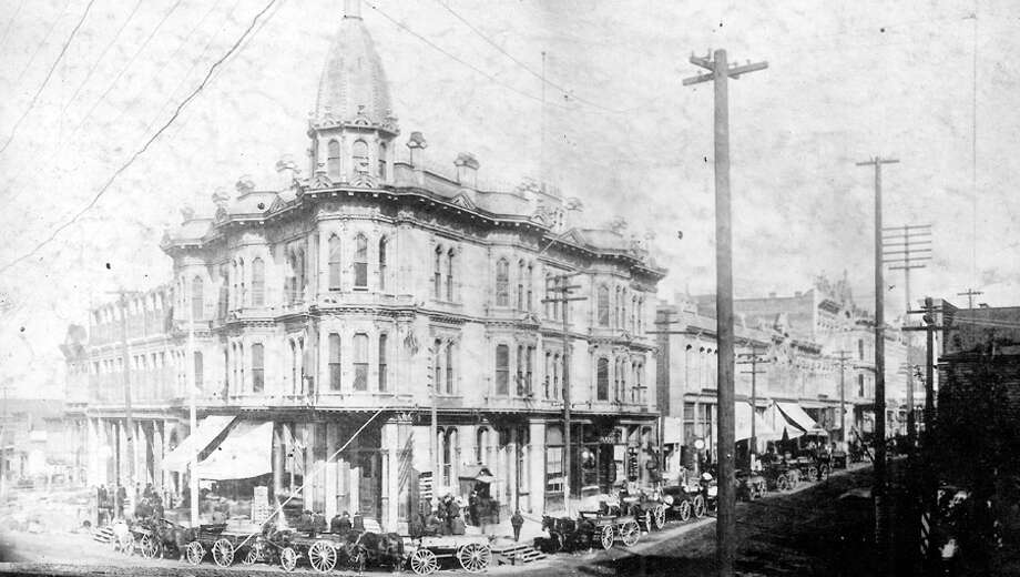 A picture of what's now First Avenue and Yesler Street before the Great Seattle Fire of 1889. Photo: Seattlepi.com File