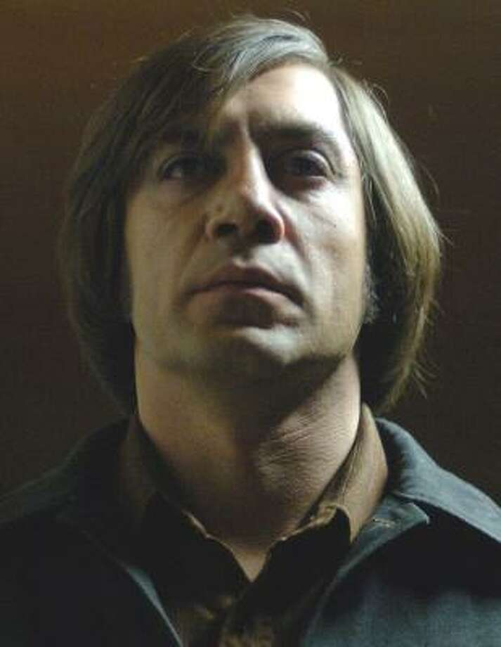 Javier Bardem as Anton Chigurh in No Country for Old Men. Photo: RICHARD FOREMAN, MIRAMAX FILMS