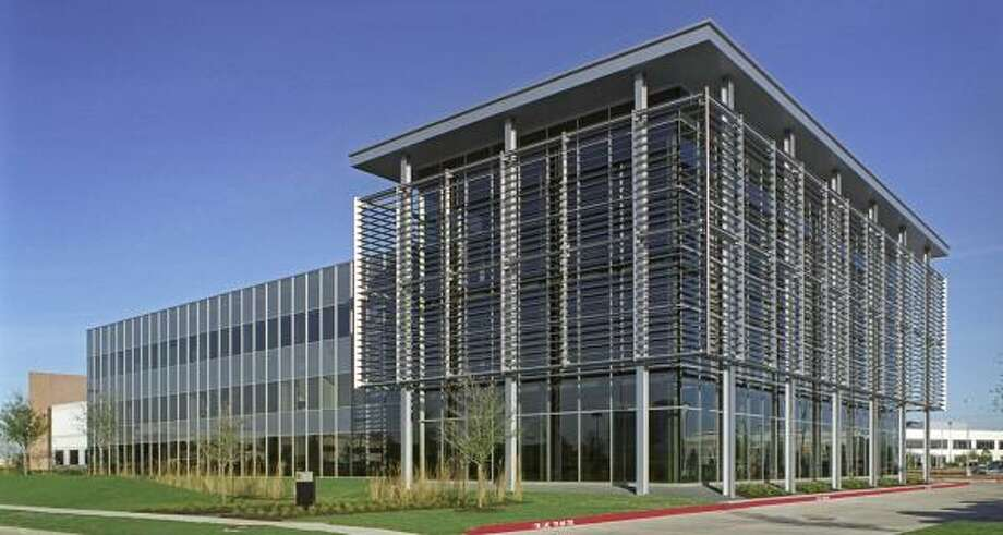 A San Francisco real estate firm has purchased the environmentally advanced headquarters of Satterfield & Pontikes Construction in west Houston. Photo: JUD HAGGARD PHOTOGRAPHY